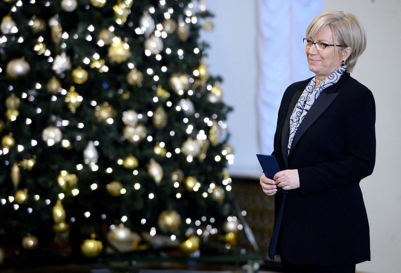 Julia Przyłębska podczas zaprzysiężenia na sędziego Trybunału Konstytucyjnego /Jacek Turczyk /PAP