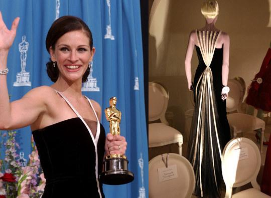 Julia Roberts przeszła do historii Oscarów jako osoba, która najdłużej dziękowała przyjaciołom i rodzinie. Do historii przeszła też jej przepiękna suknia od Valentino /Getty Images