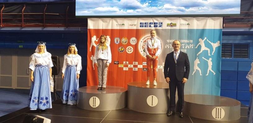 Julia Ślusarz zwycięża w Mistrzostwach Europy Muay Thay w swojej kategorii wiekowej /archiwum prywatne