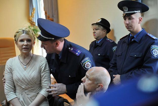Julia Tymoszenko w sądzie /AFP