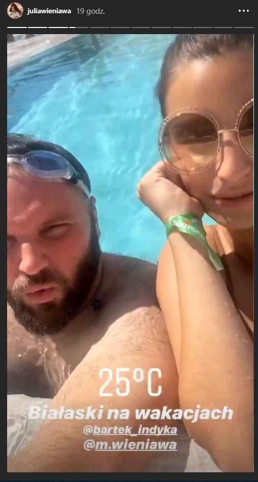 Julia Wieniawa i Bartek Indyka we Włoszech podczas wspólnych wakacji /Instagram/Julia Wieniawa /Instagram