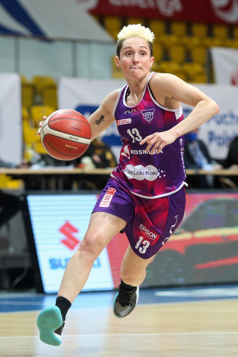 Julie McBride z Basket 25 Bydgoszcz /Grzegorz Jedrzejewski / 058sport.pl / /Newspix