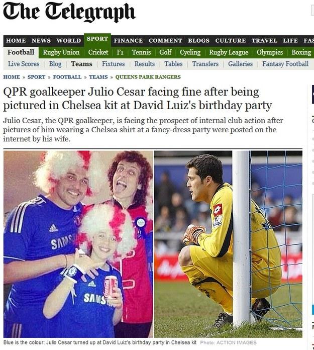 Julio Cesar w koszulce Chelsea /Internet