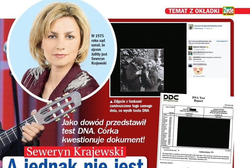 Julitta Krajewska uważa, że test DNA został sfałszowany /Życie na gorąco