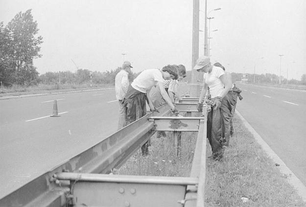 Junaczki z Ochotniczych Hufców Pracy /Z archiwum Narodowego Archiwum Cyfrowego