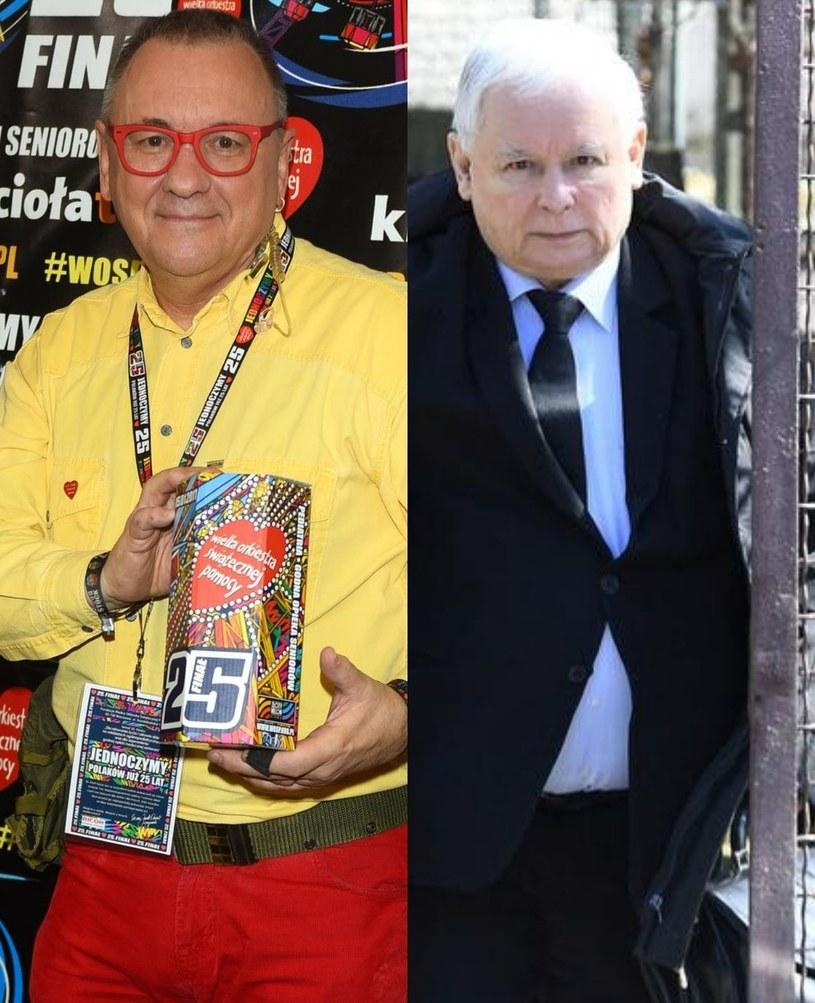 Jurek Owsiak i Jarosław Kaczyński /East News /East News