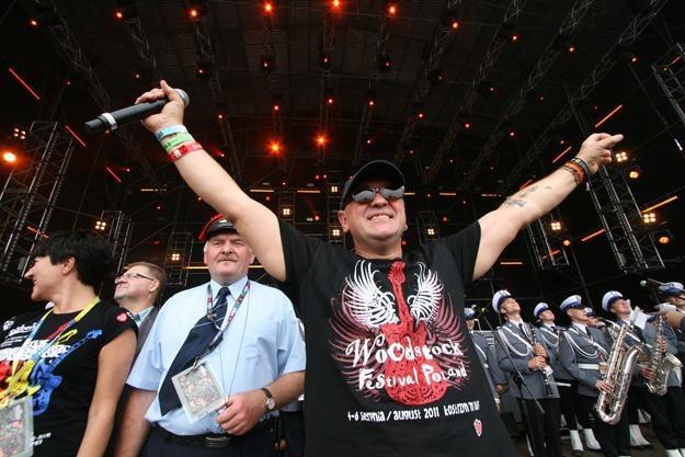 Jurek Owsiak podczas uroczystego otwarcia XVII Przystanku Woodstock - fot. Agnieszka Janowska /WOŚP