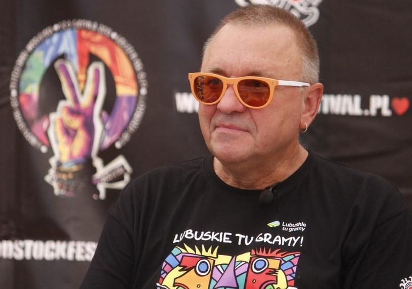 Jurek Owsiak w Kostrzynie nad Odrą podczas 19. Przystanku Woodstock /Krystian Dobuszyński /Reporter