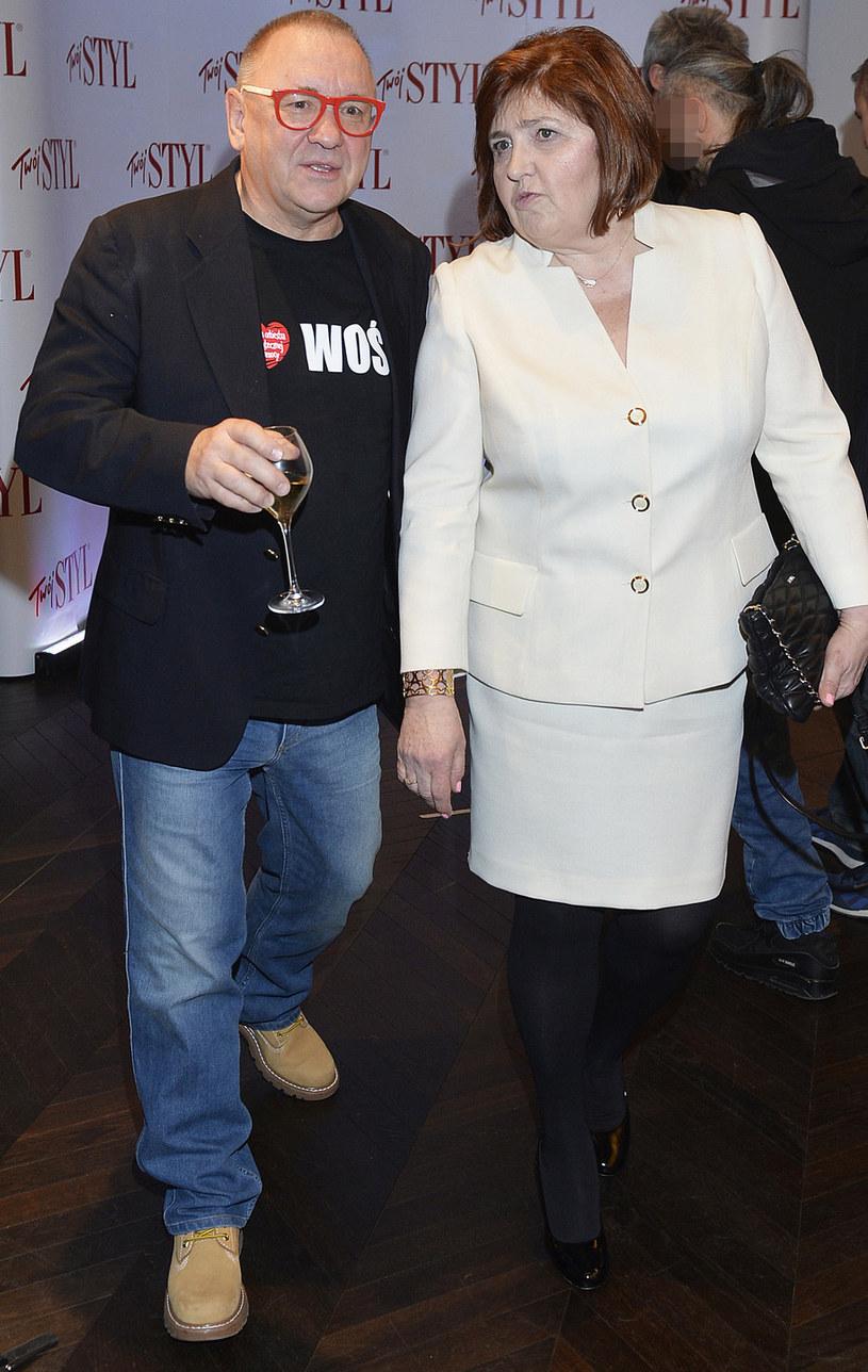 Jurek Owsiak z żoną Lidią / Mieszko Piętka /AKPA