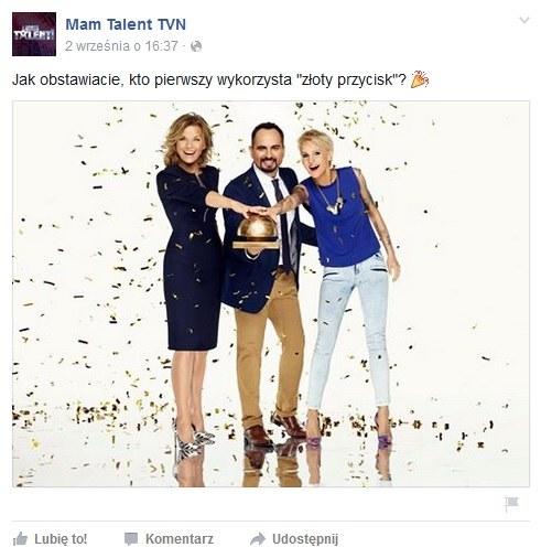 """Jurorzy 8. edycji """"Mam Talent"""" / Facebook - oficjalny fanpejdż programu /&nbsp /"""
