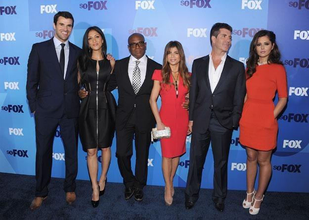 """Jurorzy """"The X Factor"""" i Cheryl Cole (z prawej) fot. Dimitrios Kambouris /Getty Images/Flash Press Media"""