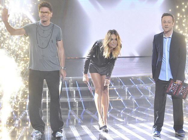 """Jurorzy """"X Factor"""": Kuba Wojewódzki, Maja Sablewska i Czesław Mozil /AKPA"""