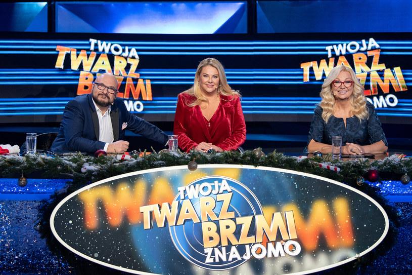 Jury świątecznego odcinka: Piotr Gąsowski, Małgorzata Nawrocka, Małgorzata Walewska /Maciej Zawada /Polsat