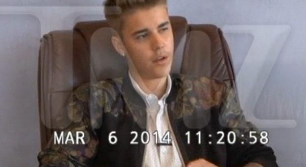 Justin Bieber podczas przesłuchania zachowywał się arogancko i lekceważąco - fot. TMZ.com /