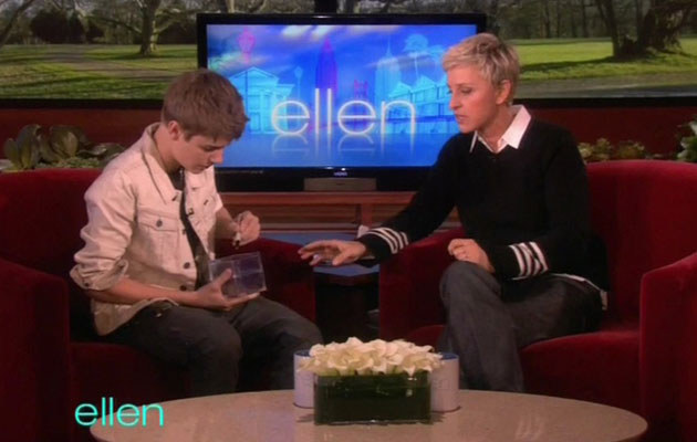 Justin Bieber u Ellen DeGeneres  /Splashnews
