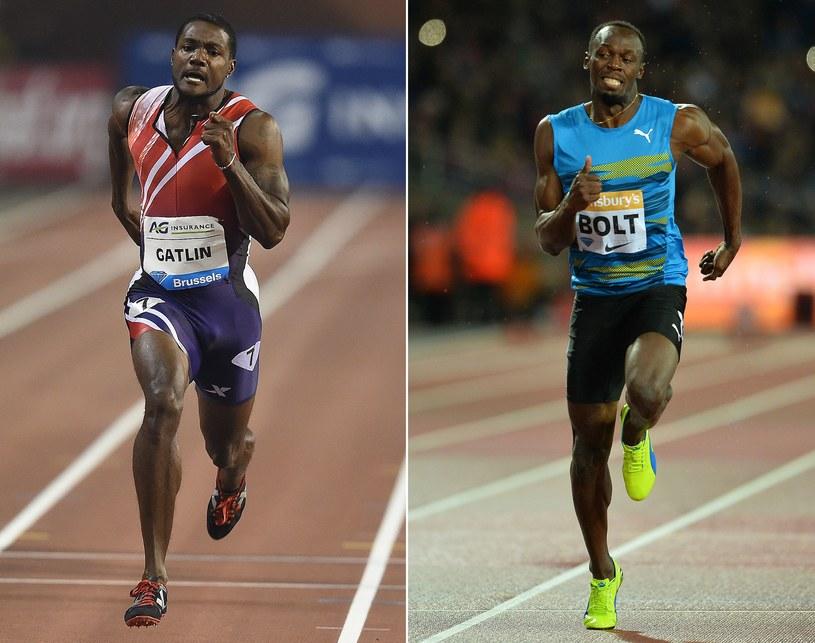 Justin Gatlin (z lewej) i Usain Bolt /AFP