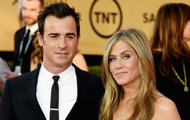 Justin Theroux i Jennifer Aniston /Ethan Miller /Getty Images