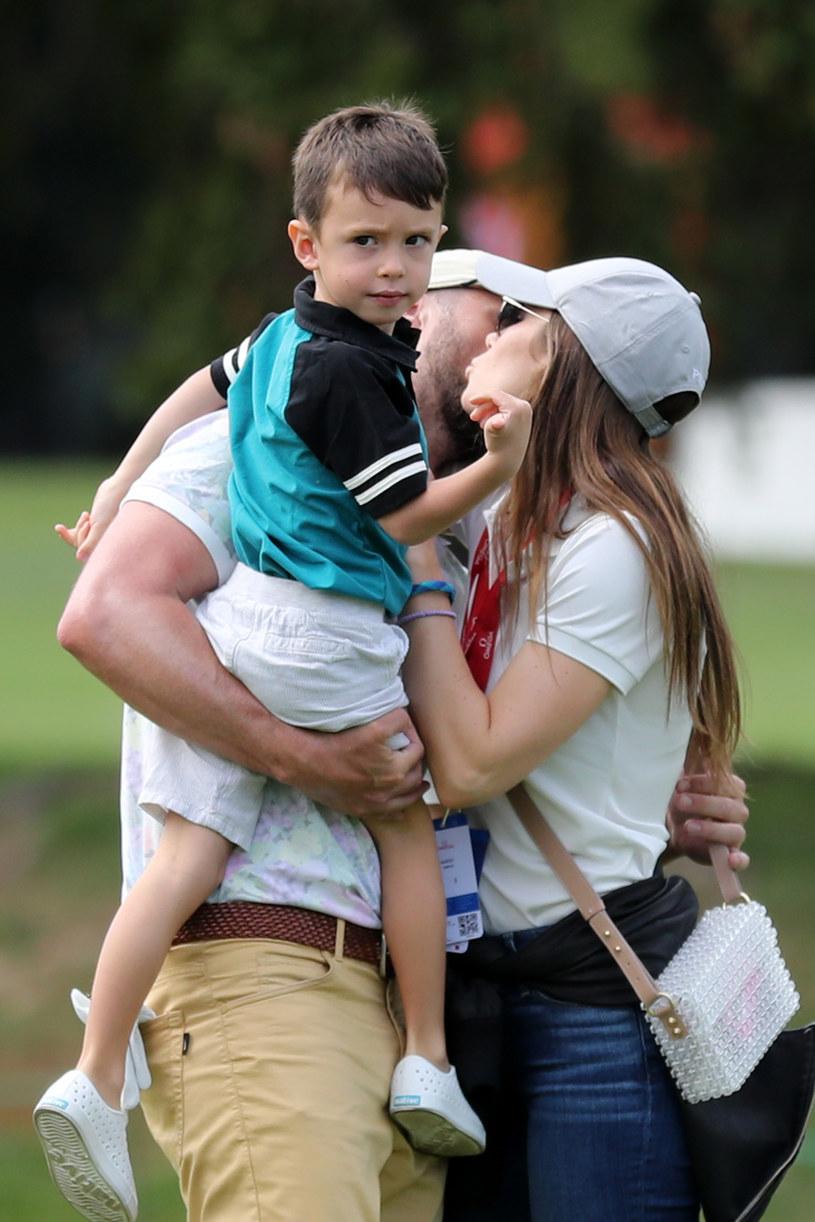 Justin Timberlake i Jessica Biel z synem /Stefan Matzke /Getty Images