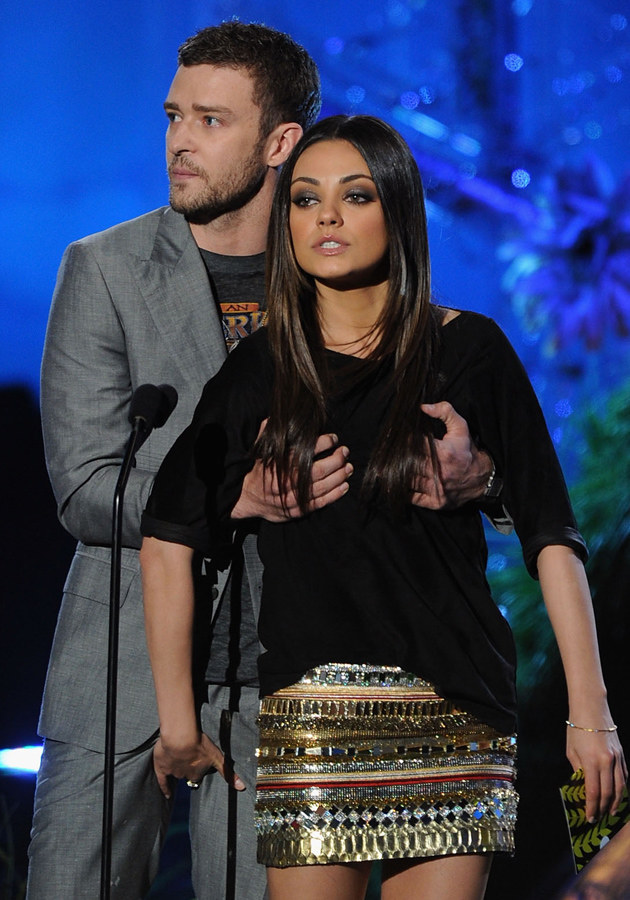 Justin Timberlake i Mila Kunis, fot.Kevin Winter  /Getty Images/Flash Press Media