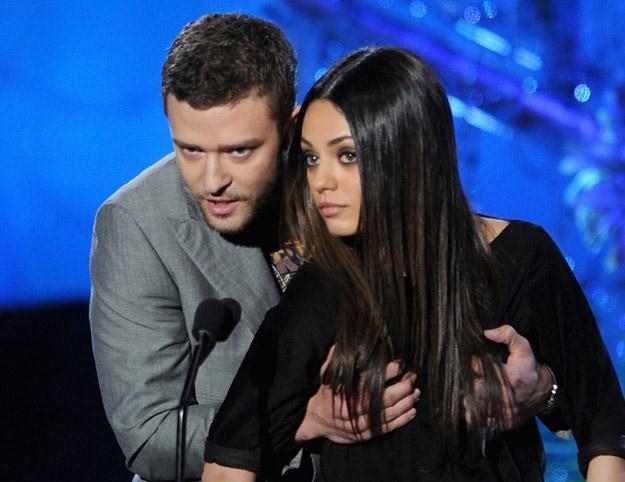 Justin Timberlake i Mila Kunis - najbardziej pożądani w amerykańskiej armii (fot. Kevin Winter) /Getty Images/Flash Press Media