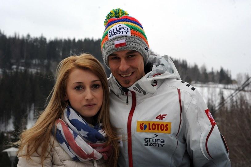 Justyna i Piotr Żyłowie podczas zawodów w Wiśle w 2013 roku /East News