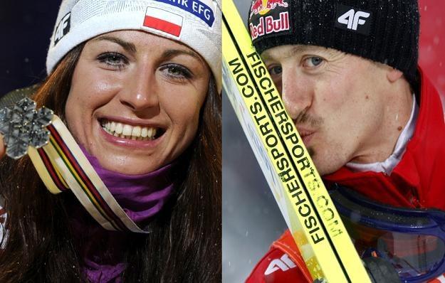 Justyna Kowalczyk i Adam Małysz zrobili w sobotę polskim kibicom wspaniały prezent! /AFP