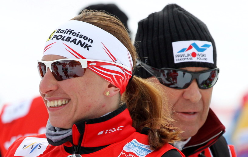 Justyna Kowalczyk i Aleksander Wierietielny /fot. Grzegorz Momot /PAP