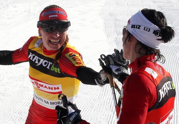 Justyna Kowalczyk i Marit Bjoergen/fot. Grzegorz Momot /PAP