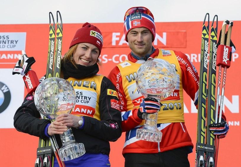 Justyna Kowalczyk i Petter Northug /AFP