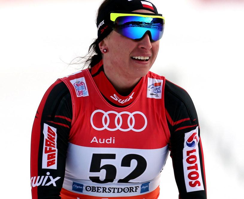 Justyna Kowalczyk na mecie prologu Tour de Ski /Grzegorz Momot /PAP