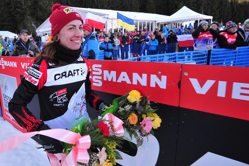 Justyna Kowalczyk na mecie Tour de Ski /AFP