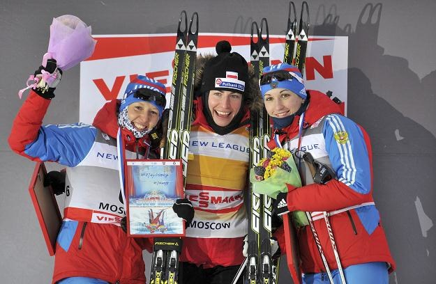 Justyna Kowalczyk na najwyższym stopniu podium w Moskwie /Agencja FORUM