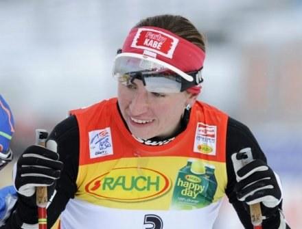 Justyna Kowalczyk na trasie biegu w Oberhofie /AFP