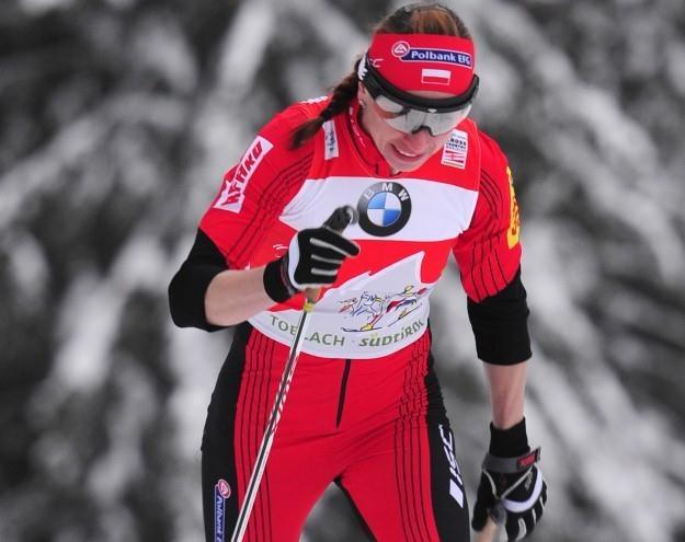 Justyna Kowalczyk na trasie sprintu podczas Tour de Ski /AFP
