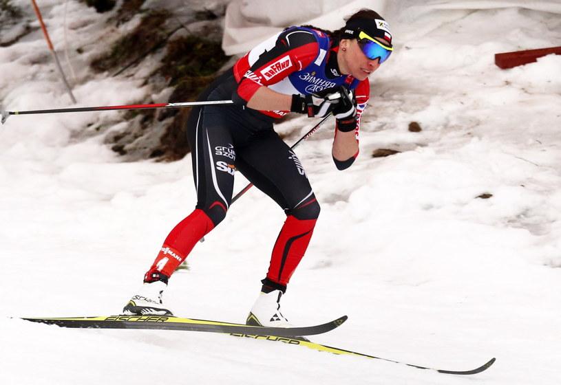 Justyna Kowalczyk na trasie sprintu techniką klasyczną MŚ w Falun /fot. Grzegorz Momot /PAP