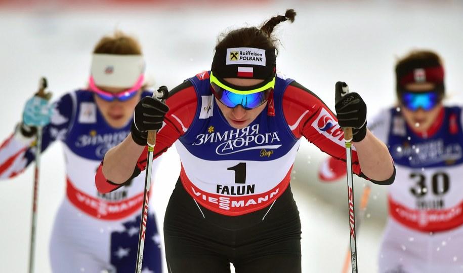 Justyna Kowalczyk na trasie w Falun /Hendrik Schmidt /PAP/EPA