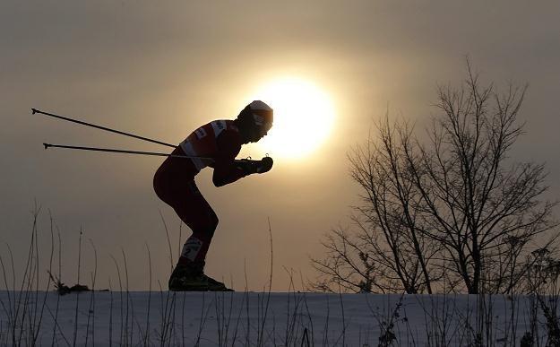 Justyna Kowalczyk na trasie zawodów Pucharu Świata w Rybińsku /PAP/EPA