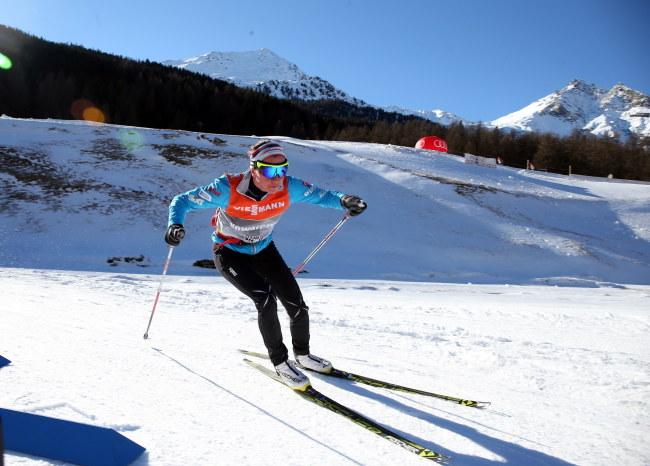 Justyna Kowalczyk na treningu w Val Mustair /Grzegorz Momot /PAP
