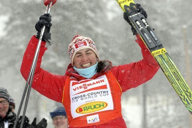 Justyna Kowalczyk nie zdołała poprowadzić reprezentacji Polski na podium /AFP