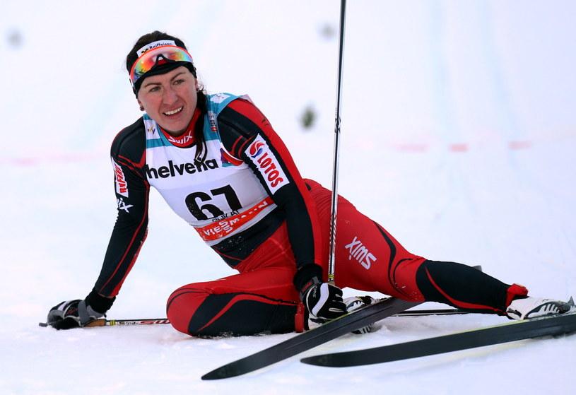 Justyna Kowalczyk po biegu na 10 km w Kuusamo /Grzegorz Momot /PAP