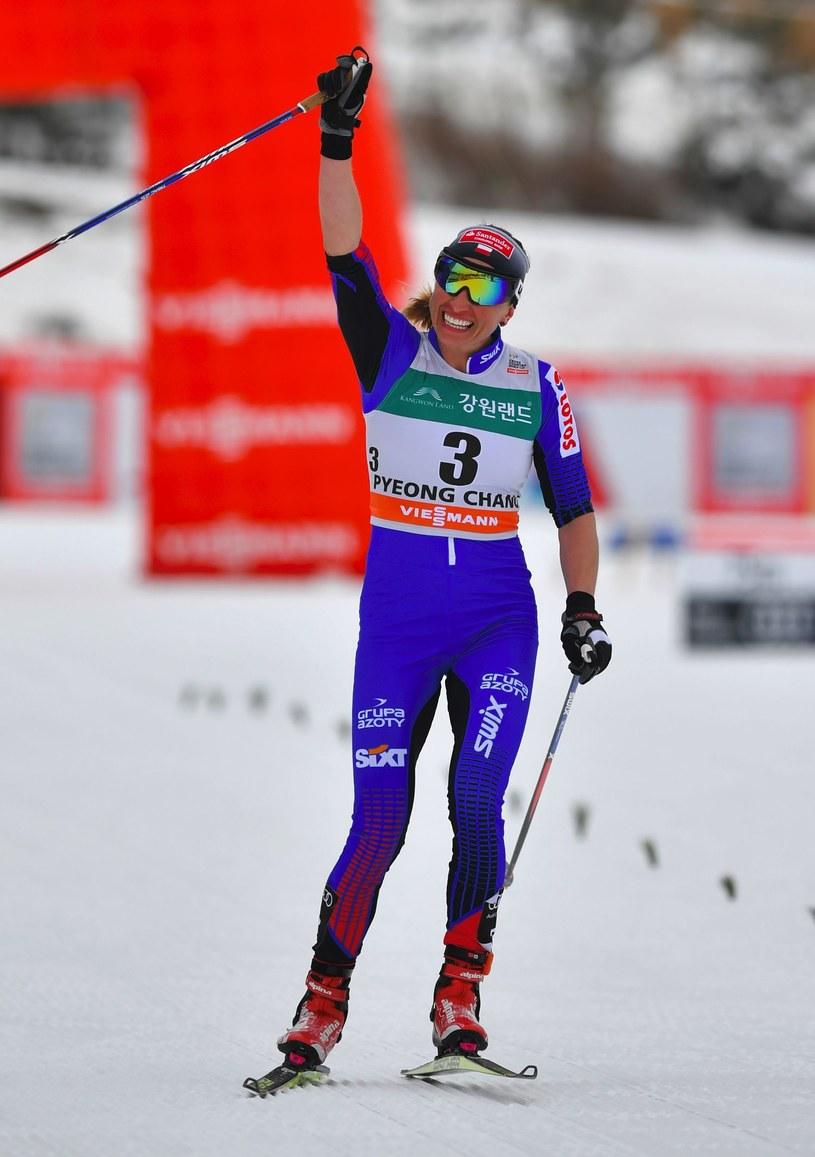 Justyna Kowalczyk, podczas przedolimpijskiej próby w Pjongczangu, czuła się dobrze. /AFP