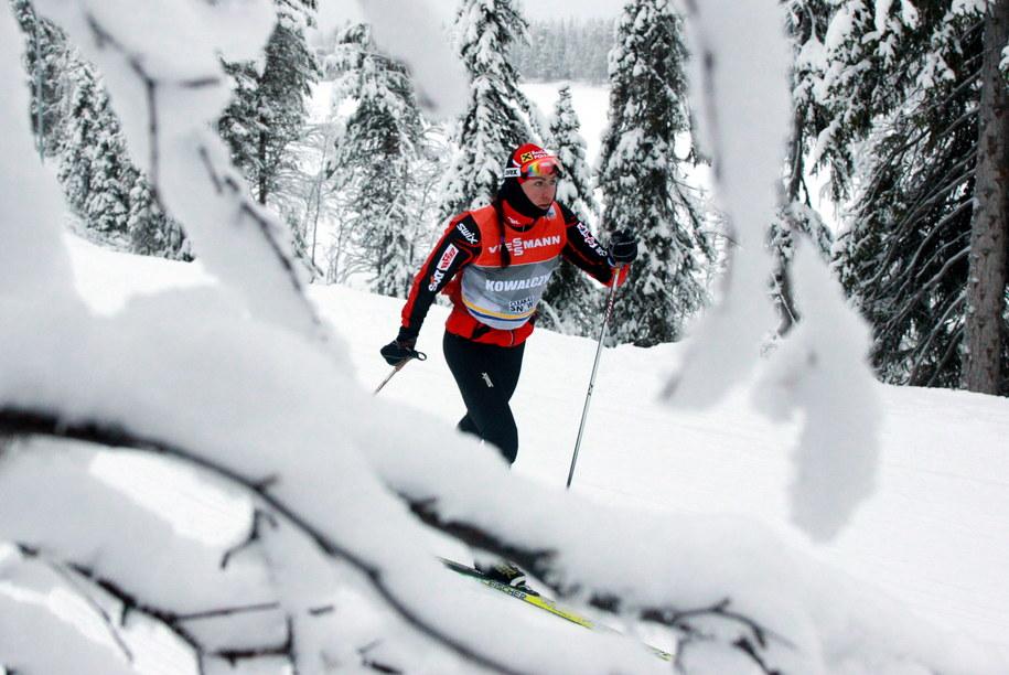 Justyna Kowalczyk podczas treningu w Kuusamo /Grzegorz Momot /PAP