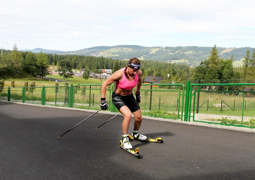 Justyna Kowalczyk podczas treningu w Zakopanem /fot. Grzegorz Momot /PAP