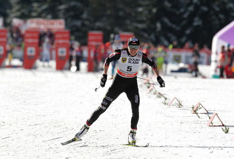Justyna Kowalczyk podczas zawodów Pucharu Świata w Szklarskiej Porębie w 2014 roku /AFP