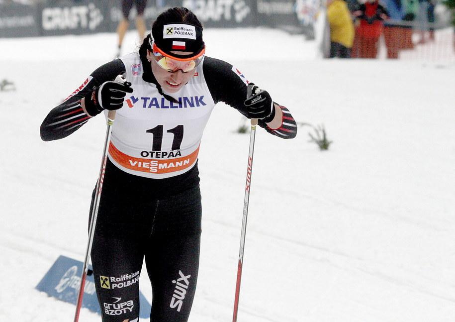 Justyna Kowalczyk podczas zawodów w estońskiej Otepaeae /VALDA KALNINA /PAP/EPA
