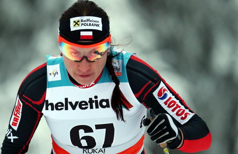 Justyna Kowalczyk podczas zawodów w Kuusamo /Grzegorz Momot /PAP