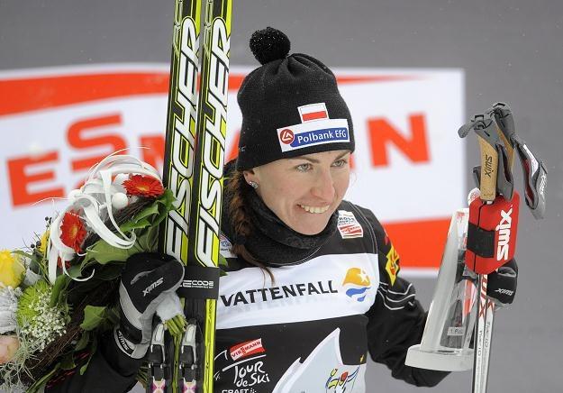Justyna Kowalczyk prowadzi w klasyfikacji Tour de Ski /AFP