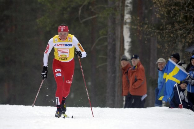 Justyna Kowalczyk w sobotę zajęła w Falun 12. miejsce /AFP
