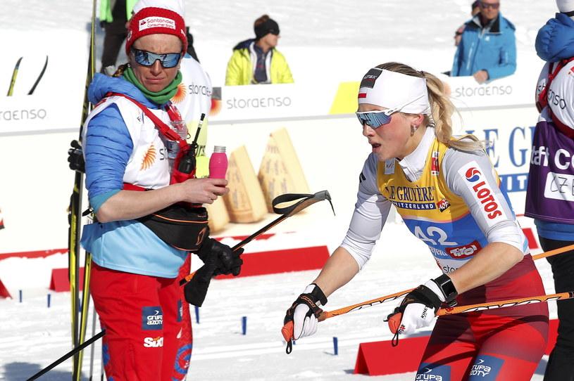 Justyna Kowalczyk (z lewej) i Izabela Marcisz / Grzegorz Momot    /PAP