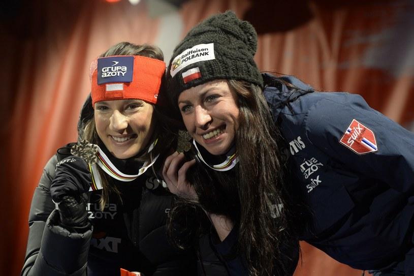Justyna Kowalczyk (z prawej) i Sylwia Jaśkowiec /AFP